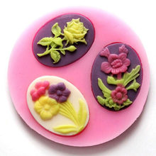 Fondant Cake Decorating Alat 3 Tanaman Bunga Fondant Cetakan Kue Dekorasi Chocolate Dessert Cookie Diy Bakeware Jelly Puding(China)