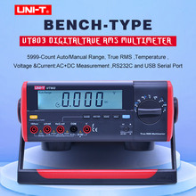 UNI T UT803 True RMS Auto Range Bench Type Digital Multimeter DMM HZ Temperature Tester Capacitor w/hFE Test & USB