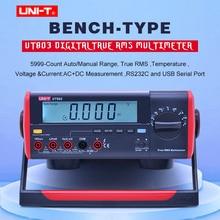 UNI T UT803 True RMS Phạm Vi Tự Động Băng Ghế Dự Bị Loại Vạn Năng Kỹ Thuật Số DMM Hz Nhiệt Độ Máy Đo Tụ Điện W/HFE Và Kiểm Tra USB