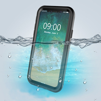 REFUNNEY Full Screen IP68 Waterproof Shockproof Underwater Case For IPhone X 10 Cell Phone Cover Coque