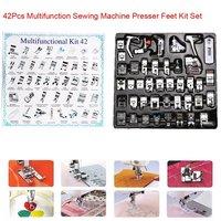 42 Pcs Multifunction Domestic Sewing Machine Braiding Blind Stitch Darning Presser Foot Feet Kit Set