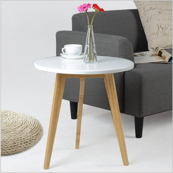 Bamboo Table With Design: Modern Design Bamboo Round Side Table Minimalist Tea Table
