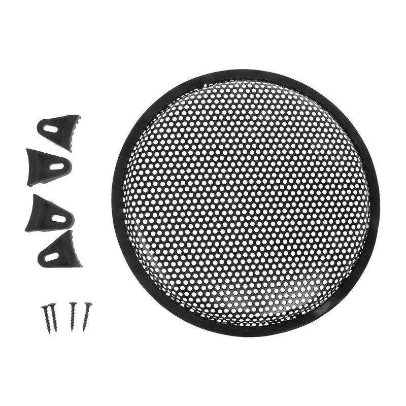 X AUTOHAUX 2pcs 12 Inch Black Car Audio Speaker Cover Metal Mesh Subwoofer Grill Horn Guard