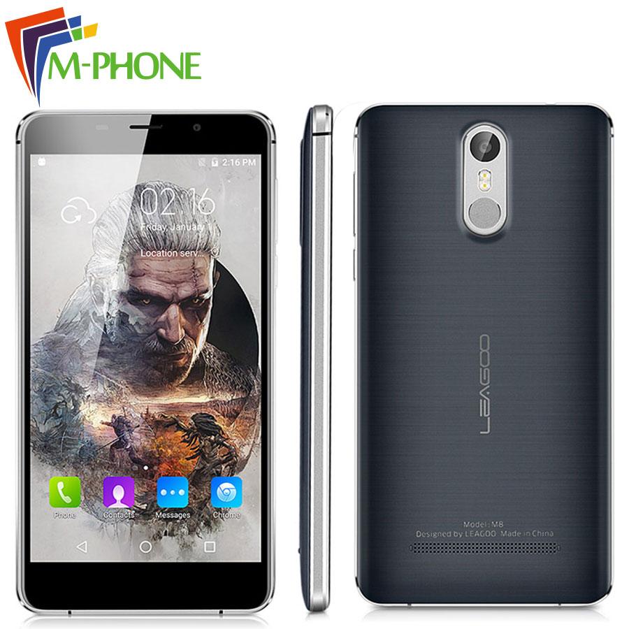 "bilder für Ursprüngliche Leagoo M8 Handy 5,7 ""HD Android 6.0 MT6580A Quad Core Smartphone 2 GB RAM 16 GB ROM 3500 mAh 13,0 MP Fingerabdruck ID"