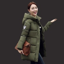 Parkas mujer invierno 2017 new self-cultivation fashion in the long paragraph down cotton jacket coat miegofce