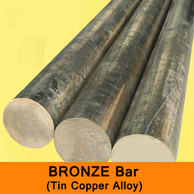 Bronze Bar Tin Copper Alloy Raw Material Seawater Resists Corrosion Boiler Ship Building DIY CNC Machine Length 300mm