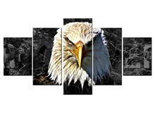5 panel Canvas Art Eagle  Painting for Living Room Modern Home Decoration Wall Prints Picture