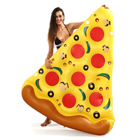 Giant Pizza Slice Inflatable Pool Floating Island Swimming Ring Water Mattress Party Toys For Adult Child Boia Piscina Beach Bed