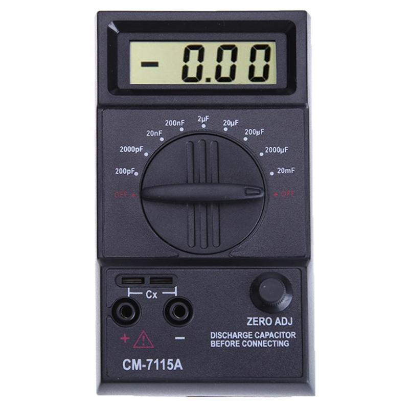 Digitale Kapazität Meter CM7115A Hohe Präzision Multimeter mit Tester Multimeter Elektrische Mess Zählt