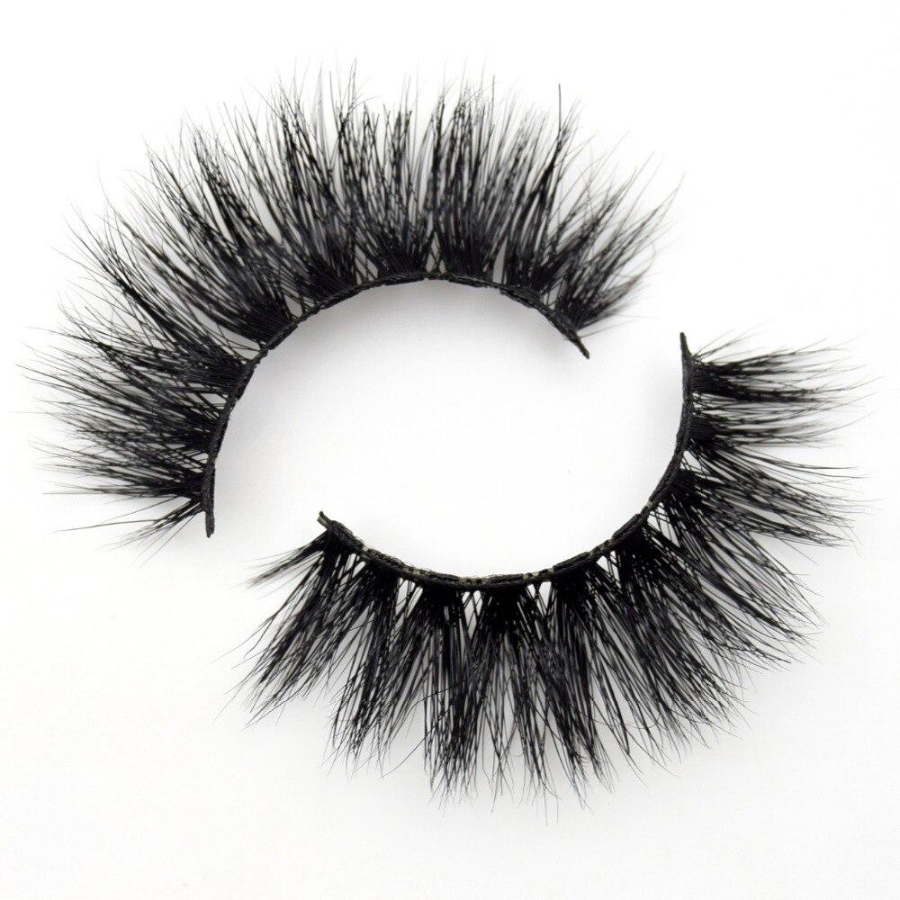 Visofree Lashes 3D Mink Eyelashes Volume Mink Eyelash Extensions Thick Mink Lashes Cruelty Free Fluffy Natural False Lashes R01