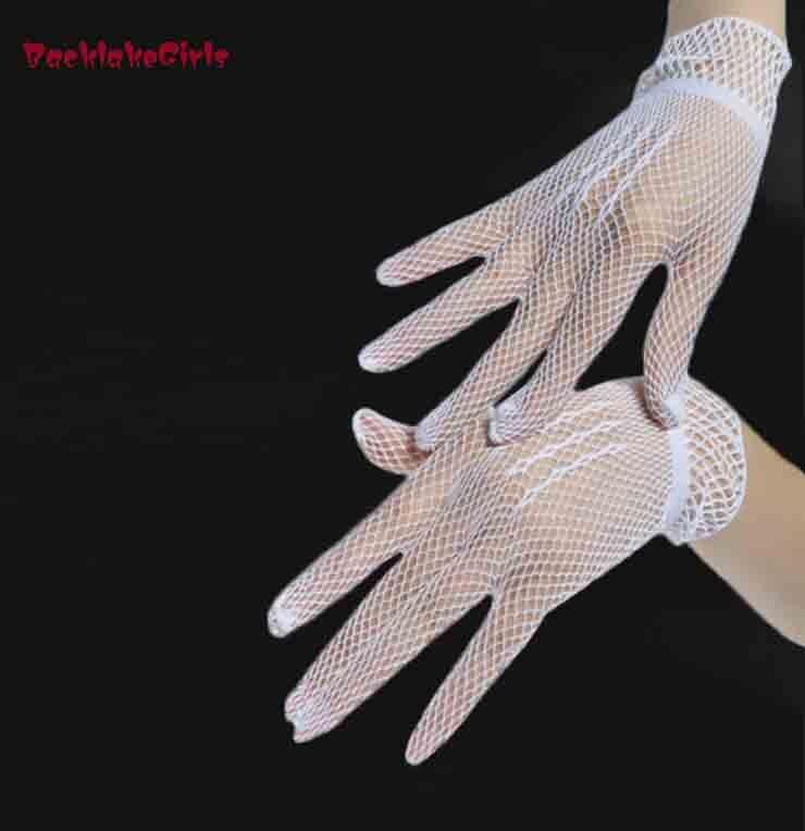 Three Color Hot Sale White Bridal Gloves Wedding Accessories Beautiful Wrist Finger Net Weddings Glove New Bride Gloves 2018