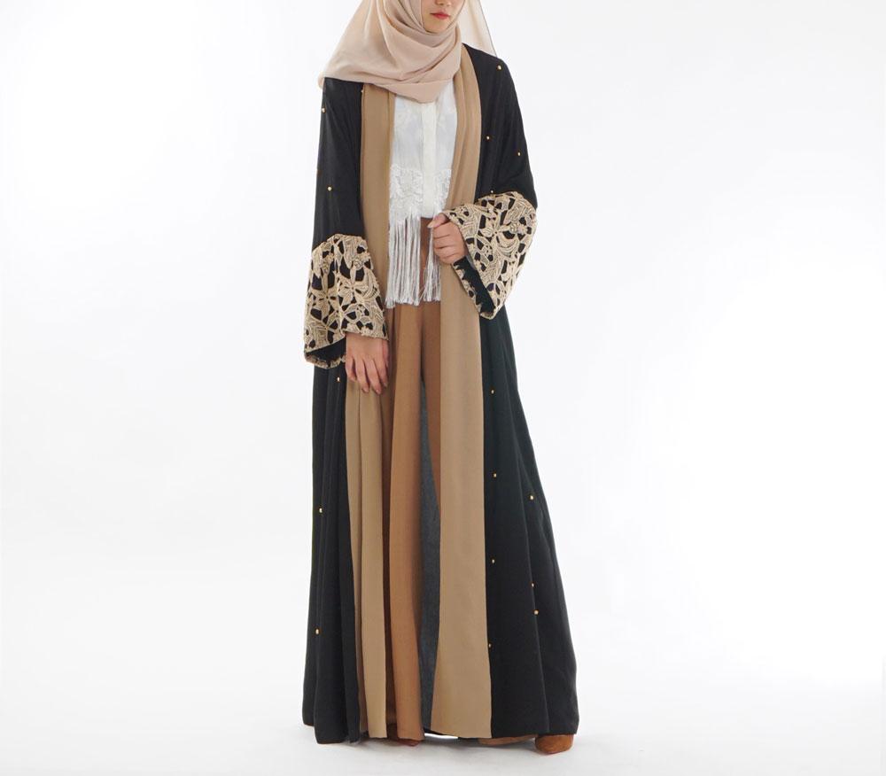 Robe Musulmane abaya islamique Femmes Fleurs