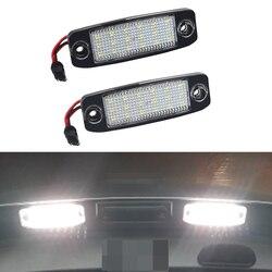 2pcs High Quality Error Free 18LED Car License Plate Lights For Hyundai Kia Sportage 12v White For Sonata 10 Sonata YF GF 10