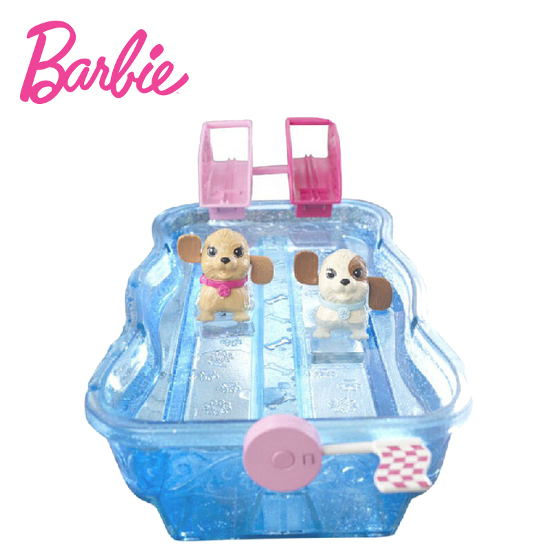Originals Swimming Game With Bath Swim Race Pups Dog Girl Barbie Doll For Birthday Gift Toys Boneca Juguetes bonecas in Dolls from Toys Hobbies