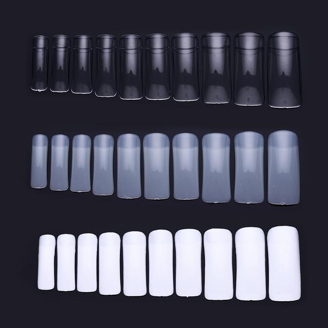 100Pcs/Box False Nail Tips Half Cover False Nail DIY UV Gel False Nail Art Tips Natural White Nail Spa Manicure Design