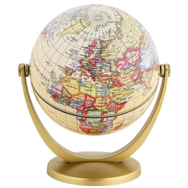 220V LED Light Desktop Rotating World Earth Globe Geography Education Map Study