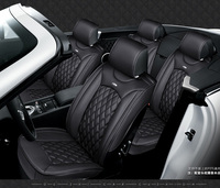 For Dodge Ram Charger Durango Journey Brand Black Soft Leather Car Seat Cover Front And Rear