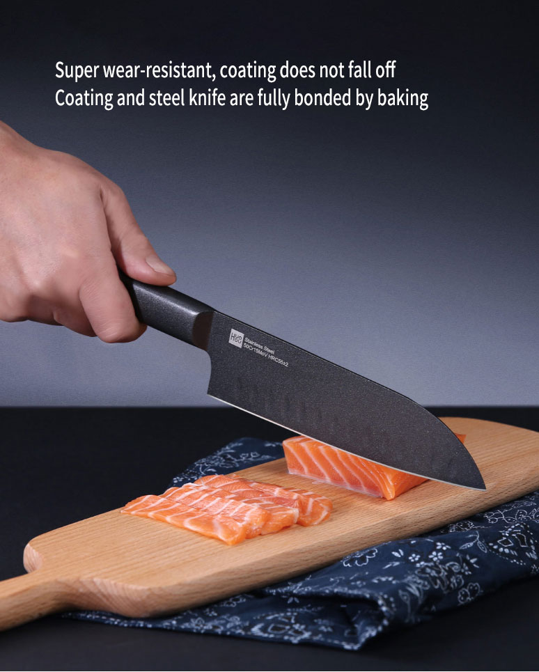 Xiaomi Mijia Cool Black Non-Stick Knife Stainless Steel Knife Set
