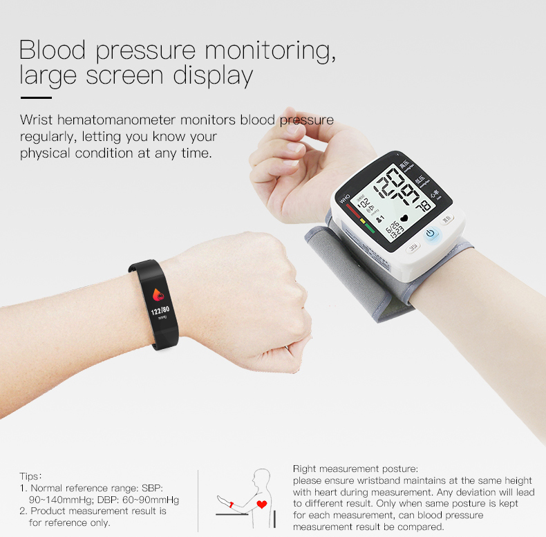 Smart bracelet blood pressure heartrate W6S (8) -