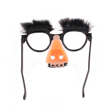 New Halloween Decoration Big Nose Funny Glasses Nose Hair Eyebrow Magician Funny Full Fool Fool Prop