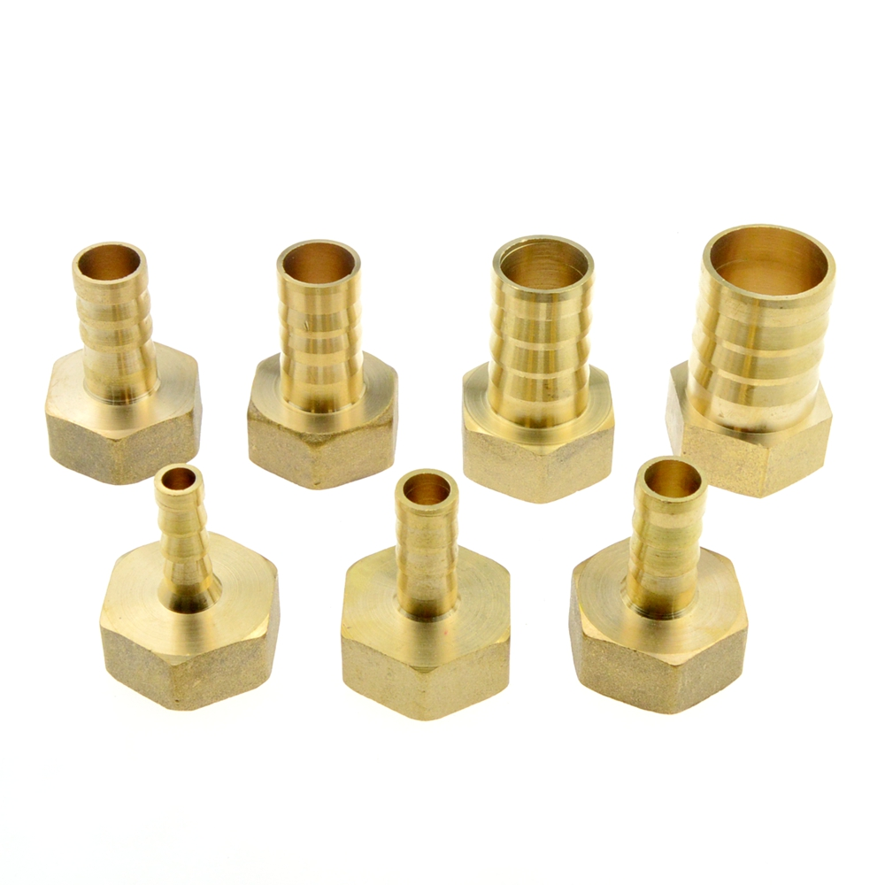 Brass 12mm 14mm 8mm 10mm 19mm 25mm Hose Barb Tail Fitting 3/4 PT BSP Female Thread Connector Joint Copper Pipe Coupler Adapter 12mm x 10mm t joint plastic one touch tube connector quick coupler