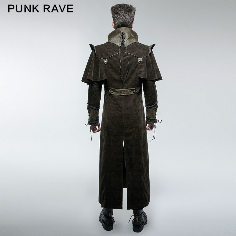 Aliexpress.com : Buy Punk Rave Mens Coat Long Jacket Brown Gothic ...
