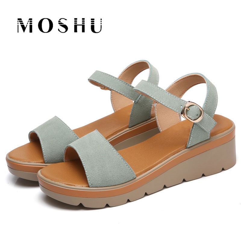 Women Summer Sandals Gladiator Platform Buckle Strap Creepers 6cm High Heel Wedges Beach Shoes Ladies Casual Shoes Sandalias women creepers shoes 2015 summer breathable white gauze hollow platform shoes women fashion sandals x525 50