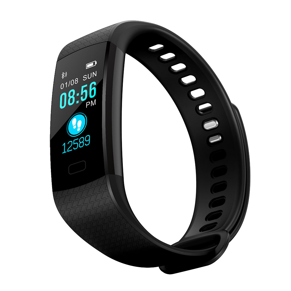 KY4 Color Screen Smart Wristband Sports Bracelet Heart Rate Blood Pressure / Oxygen Monitor Fitness Tracker for iPhone 5S 5C 5 4 k14 color screen smart wristband sports bracelet heart rate blood pressure monitor fitness tracker for google nexus 6p 6 5 4 g5