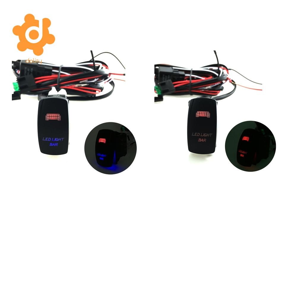 Hot Sale Dolity 1 Pair Car Red Blue Led Light Bar Rocker Switch On Relay Vehicle Off W Wiring Fuse