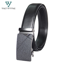 New Fashion Men Automatic Buckle Leather Belt Business Gentleman Waistband Design Western Straps For 3.5 Width
