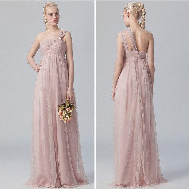 Brautjunferkleider Englisch Rose schulter tüll kleid ausschnitt ...