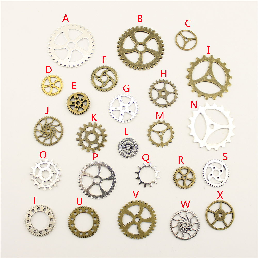 20Pcs Supplies For Jewelry Material Porous Round Gear Creative Handmade Birthday Gifts Charms For Jewelry Making HK206 Стёганое полотно