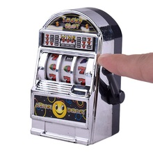Innovative Mini Slot Machine Toy Rotatable Stress Reliever Children Party Jackpot Funny Jokes Play toys for Child dropshipping