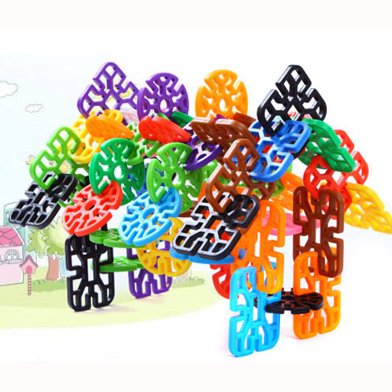 350g 3D Thicken Puzzle Jigsaw Plastic Geometric shape Building Building Model Puzzle Educational Intelligence Toys For Kids