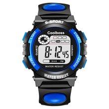 COOLBOSS Marca de Buceo 30 m reloj Electrónico de Los Hombres Relojes Deportivos Militar Al Aire Libre LLEVÓ el Reloj Digital de Cuarzo Relojes de Pulsera Relogio masculino