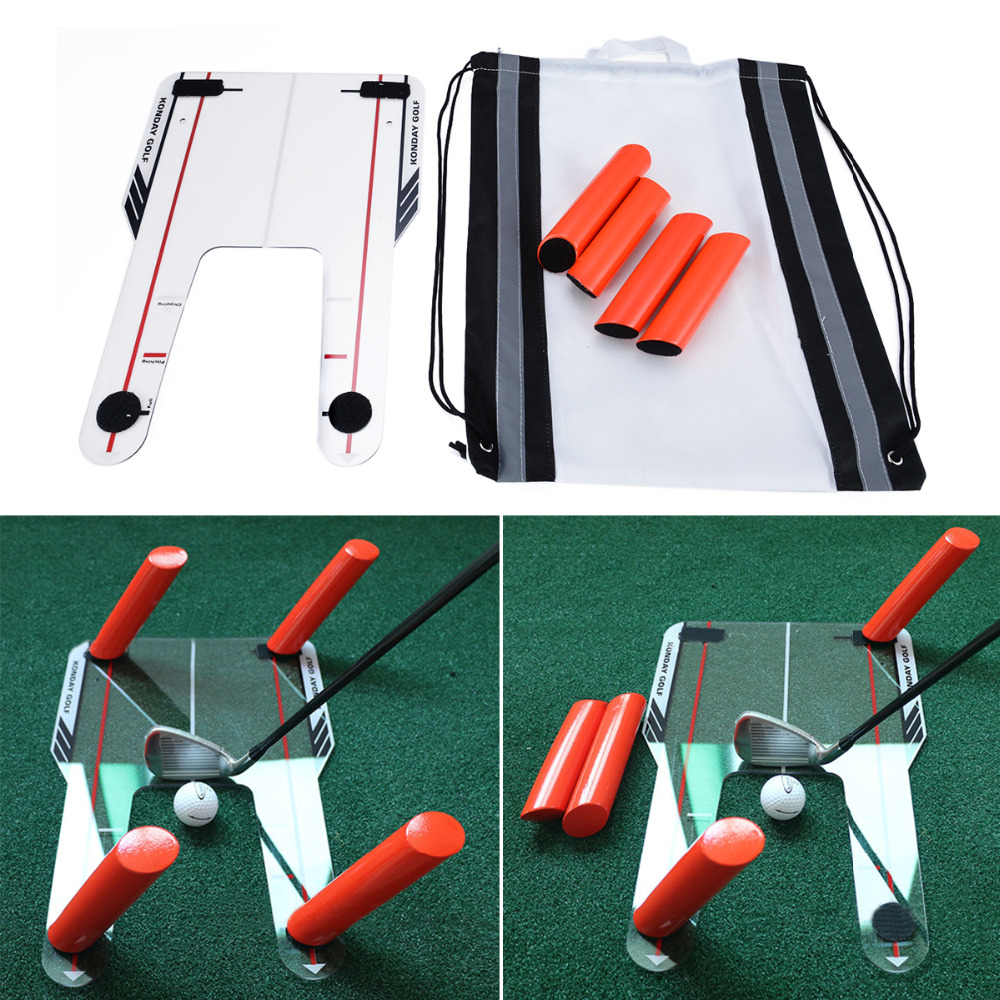 Mayitr Golf Putting Mirror Alignment Training Aid Swing Practice Trainer Speed Trap Base & 4 Speed Rod Golf Accessories golf putting mat mini golf putting trainer with automatic ball return indoor artificial grass carpet