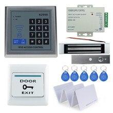 Kompletny zestaw Zestaw Zestaw Systemu Kontroli dostępu do Drzwi Z Zamkiem RFID RFID klawiatura + moc + zamek magnetyczny + drzwi exit + 24keys bezpłatna wysyłka