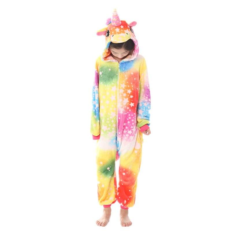 Kids Girls Boy Unicorn Costume Pajamas PJS Hoodie Nightwear Jumpsuit Fancy Dress