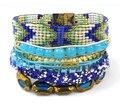 2015 Bracelet Femme Bohemian Bangles Layer Beads Weaving Bracelet Manchette Femme Wristband Magnetic Boho Bracelets For Women