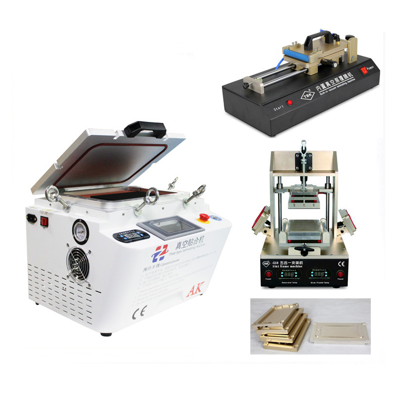 AK OCA Vacuum Laminating Machine Remover Machine Debubbler Integrated+5 in1 Frame Separator+Automatic OCA Film Machine tbk lcd repair equipment oca vacuum laminator machine 3 in1 automatic oca film machine aluminum alloy automatic separator