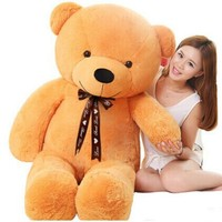 140cm Lovely Cute Stuffed Teddy Bear Plush Toy Big Embrace Full Bear With Filling Children Doll Girls Gifts Birthday gift