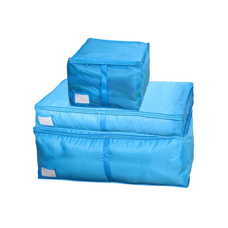 HOMEBEGIN сумки для хранения стеганых одеял Оксфорд багажные сумки Домашний Органайзер для хранения моющийся шкаф для хранения одежды сумки для хранения S-L - Цвет: Blue