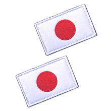 5pcs/lot JAPAN Flag Embroidered Patch Hook and Loop Backing Patches For Clothing Free Shipping цена 2017