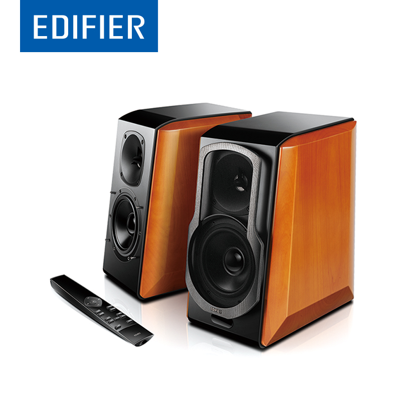 EDIFIER S2000 Pro HIFI Bluetooth Speaker Full Digital Amplifier Powerd Bookshelf Bluetooth Speaker Support Apt-X Remote Control adjustable bass treble two divider hifi module game pwm modulation digital amplifier for speaker audio crossover repair parts