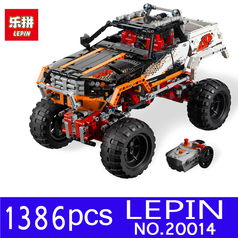 LEPIN 20014 1386Pcs Technic Series Rock Crawler Kits Off-Road Vehicles Building Blocks Bricks Compatible 9398 Chlidren Toys Gift lepin 20011 technic series super classic limited edition of off road vehicles model building blocks bricks compatible 41999 gift