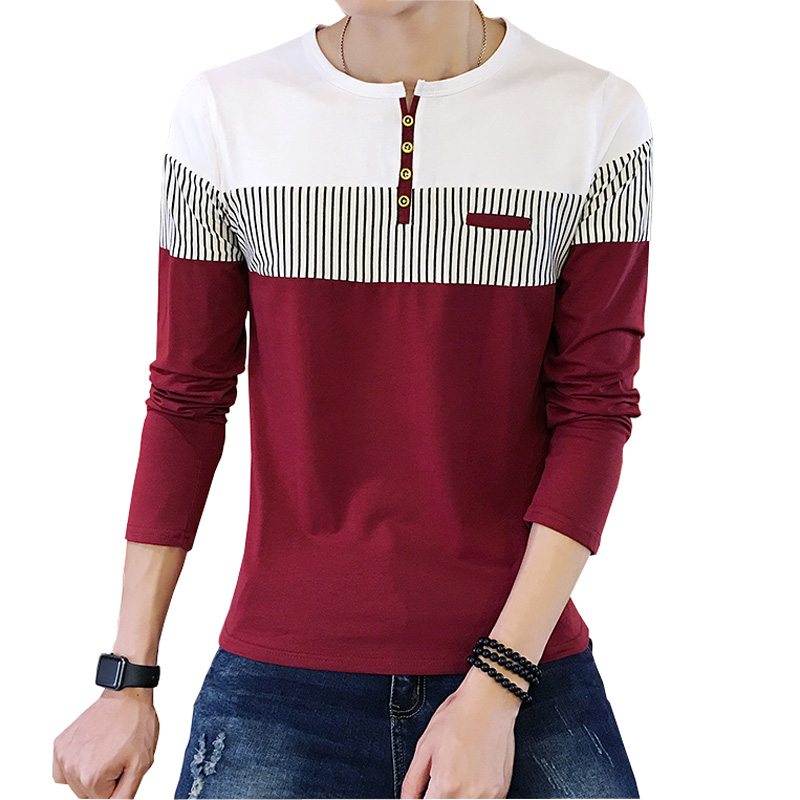 Compare Prices on Mens Striped Long Sleeve T Shirt- Online ...