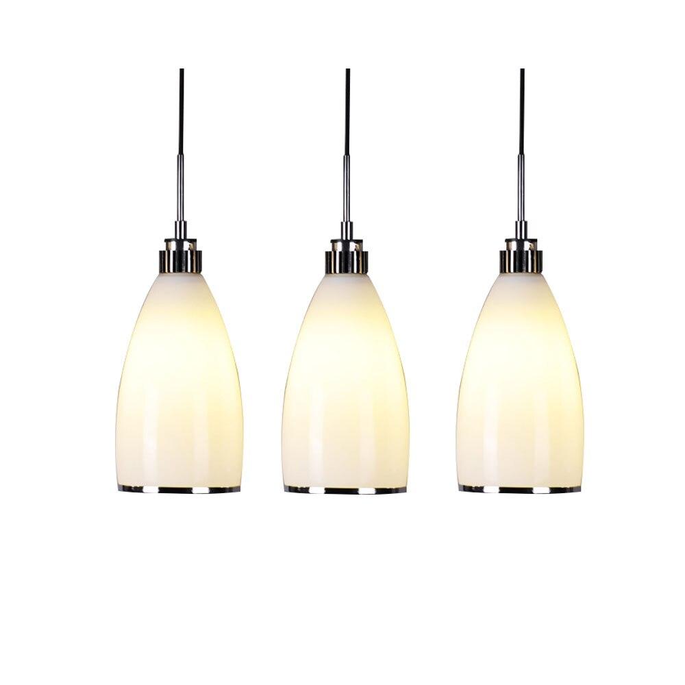 Simple Restaurant Lights Fashion LED Energy Saving Glass Lamp Bedroom Dining Room Creative Bar Table Lamp American Chandelier