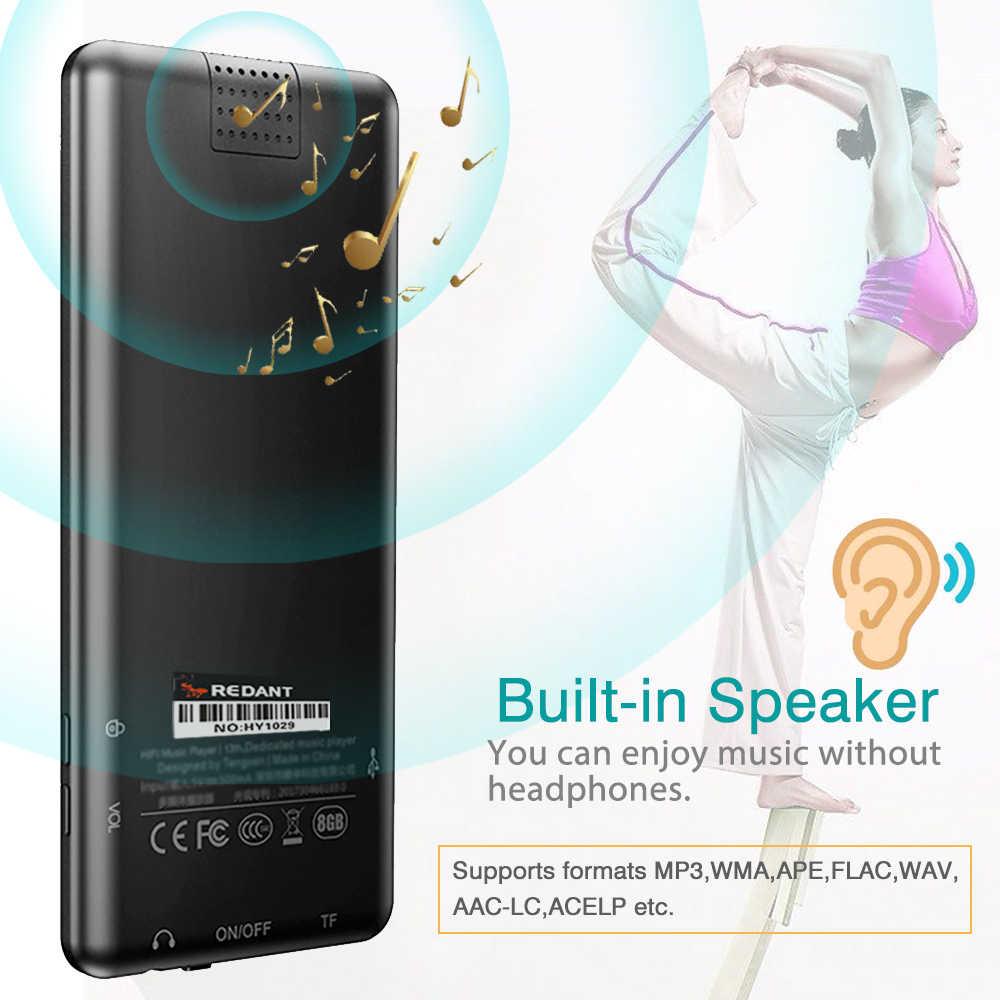 """مشغل MP3 مع بلوتوث FM سماعات راديو صغيرة تعمل لاسلكيًا سماعات مفاتيح تعمل باللمس شاشة 2.4 """"HiFi ووكمان سبورت MP 3 Flac مشغل موسيقى للأطفال"""