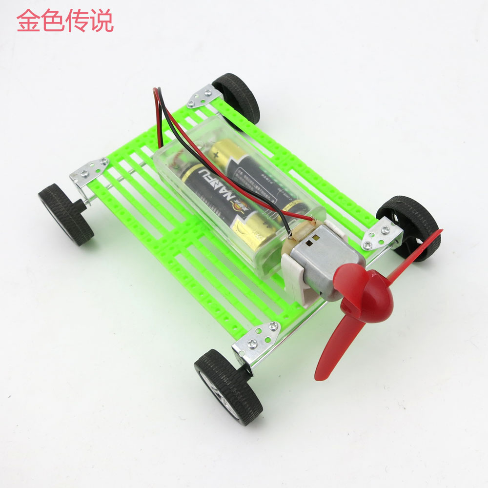 F17926 DIY Assembles Toy Motor Propeller Wind Power Car DIY for Kids 8 11 15cm 4WD