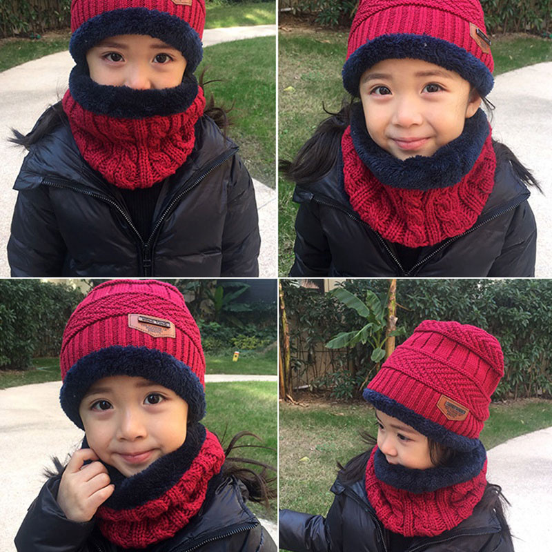 Warm Knitted Hat and Circle Scarf (27)
